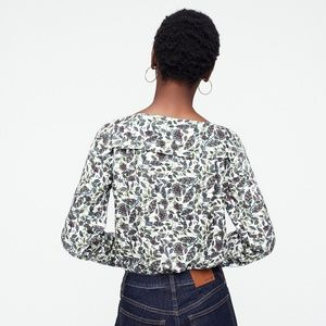 J. Crew Tops - J. Crew NWT Women's Drapey Boatneck Top in Floral